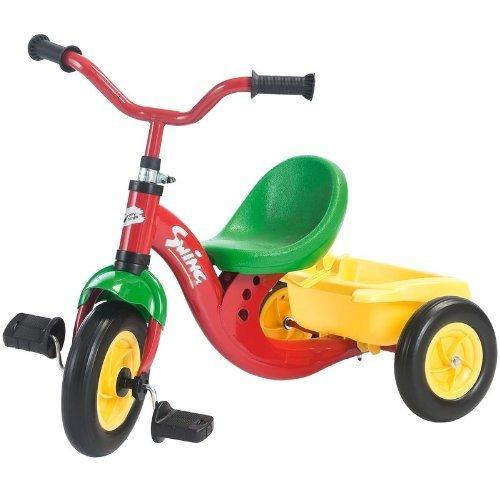 Rolly Toys 81483 - Veicolo a Pedali Swing Telaio, Ruote Silenziose, Rosso
