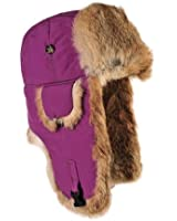 Mad Bomber Nylon Bomber Cap with Real Rrabbit Fur