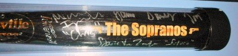 "The Sopranos Signed Louisville Slugger Baseball Bat By 5 Members James Gandolfini ""Tony"" Michael Imperioli ""Chris"" Tony Sirico ""Paulie"" - Steven Van Zandt ""Silvio"" Vincent Pastore ""Big Pussy"" Limited Steiner Item W/coa Rare"