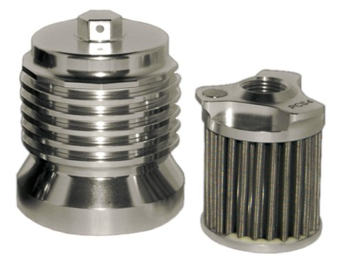 PC Racing PCS4C Stainless Steel Polished Aluminum Flo Oil Filter (2001 Sportster Oil Filter compare prices)