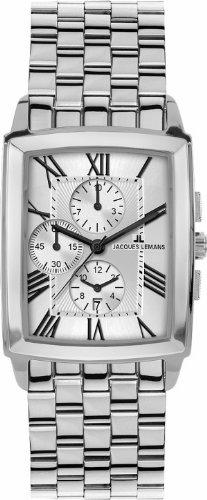 Jacques Lemans Bienne 1-1609G Men's Chronograph Metal Bracelet Watch