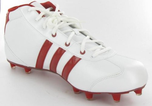 Adidas University Le Mid White/Red Football Cleats Mens 11 M