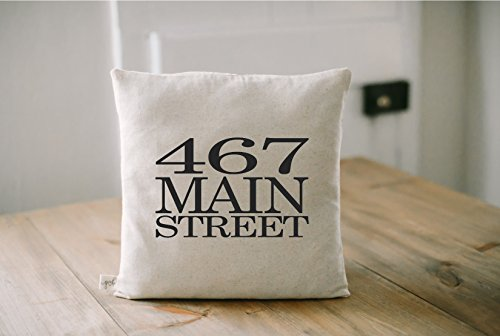 Personalized Throw Pillow - Personalized Address, wedding, engagement gift, newlywed, wedding shower, throw, cushion cover