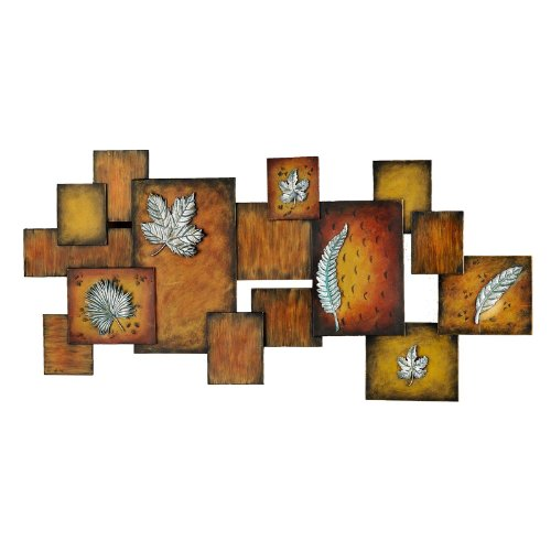Southern Enterprises Leaves / Abstract Wall Art Panel
