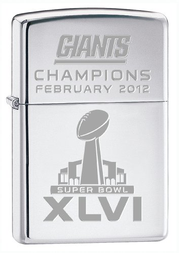 Nfl New York Giants Super Bowl Xlvi Champions Lighter, Chrome Picture