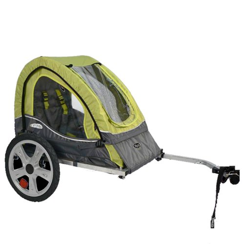 Find Discount InStep Sync Single Bicycle Trailer, Green/Gray