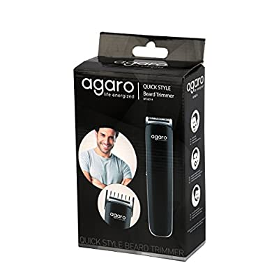 Agaro AG-MT-6014 Quick Style Beard Trimmer (Black)