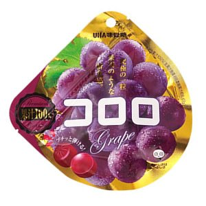 UHA Mikakuto Kororo Grape Gummy 40g x 6 Packs