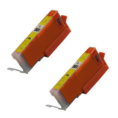 2 gelb, CLI 551 High Capacity Kompatible Tintenpatronen für Canon Pixma iP7250 iP8750 iX6850,,, MG5650, MG5450, MG5550, MG6350, MG6450, MG7150, MG6650, MG7550, MX725, MX925