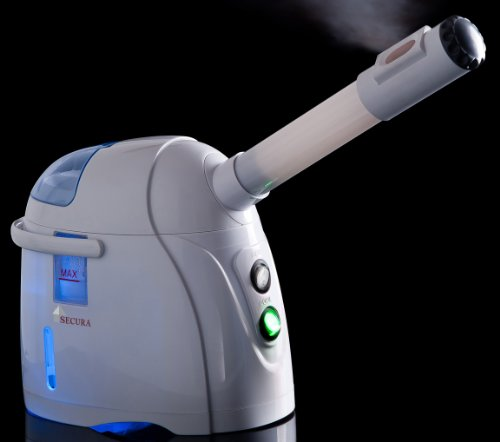 Secura Hot & Cool Facial Steamer Micro-fine Mist Sauna w/ Essence Oil and Herbal Therapy