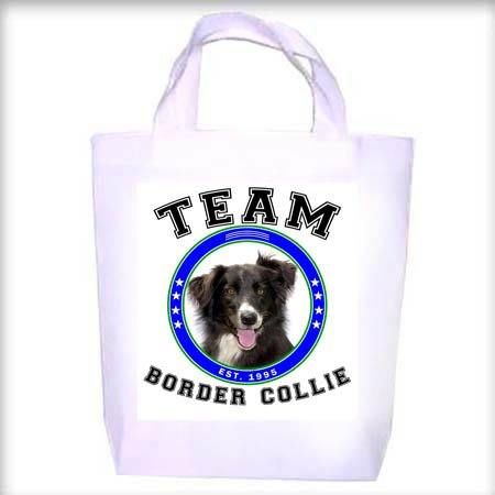 Border Collie TEAM Shopping - Dog Toy - Tote Bag