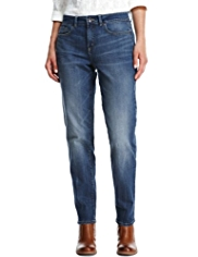 Indigo Collection Slim Leg Boyfriend Denim Jeans
