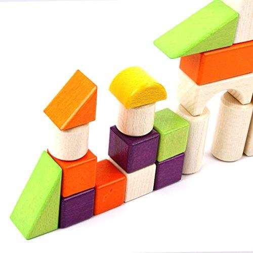 Colored Wood Blocks ~ Wooden blocks iplay ilearn colored wood block set