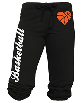 Buy Cotton Cantina Ladies Basketball Capri with Heart Basketball Image by CC