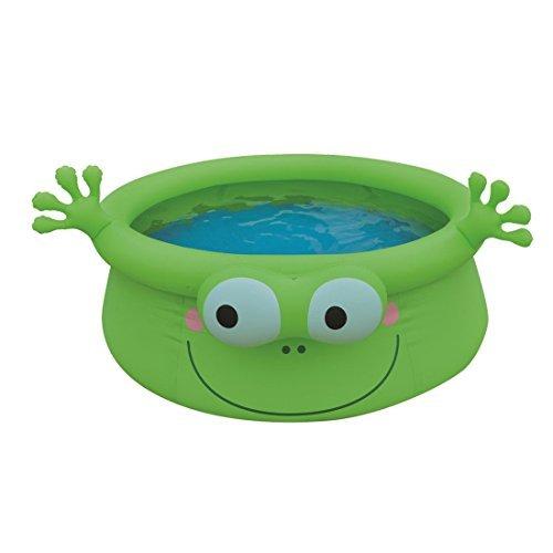Jilong Frog Pool - green children´s quick-up pool with fun 3D frog theme, ø175x62cm by Jilong
