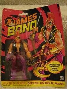 1991 JAMES BOND JR -CAPTAIN WALKER D. PLANK SPRING-FIRED GRAPPLING HOOK FEATURE CHANGE FIGURE