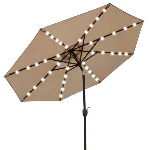 Led Umbrella Amazon: 9' NEW SOLAR 40 LED LIGHTS PATIO UMBRELLA