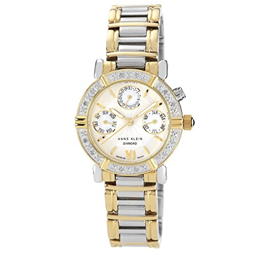 Anne Klein Women'S 10-7899Mptt Diamond Accented Multi-Function Two-Tone Watch front-799271
