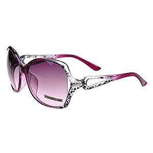 xhorizon TM Vintage Oversized Frame Quality Fashion Oversized Sunglasses UV400 CF