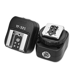 Adaptateur griffe flash de Kaavie avec Port PC Sync supplémentaire pour reflex numériques Canon et Flashguns