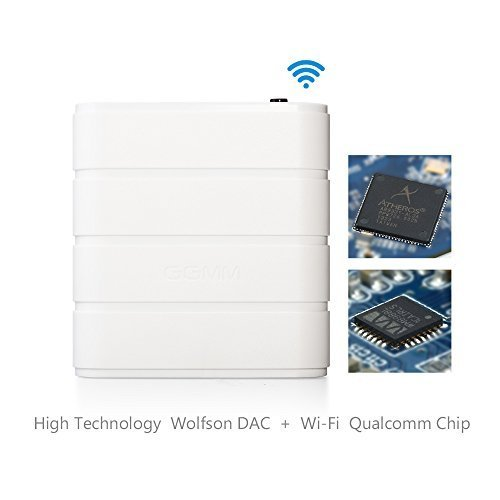 [QUALCOMM CHIP] GGMM M-Freebox Wi-Fi Wireless Hi-Fi Audio Music Receiver/Adapter for Home & Car Speakers. Compatible with Apple products/ iOS/OS| Supports DLNA/Airplay (Wifi Direct Audio Receiver compare prices)