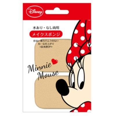 Disneyミニー メイクスポンジ 長角型2P