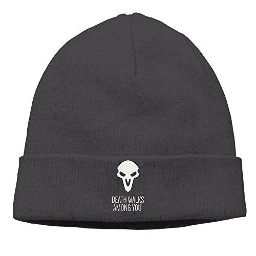 feruch pittgo over Watch Death Walks Among You Woolen Hat Knit Cap Beanie Cap for Unisex Black