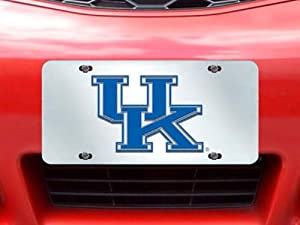 Buy FANMATS NCAA University of Kentucky Wildcats Plastic License Plate (Inlaid) by Fanmats