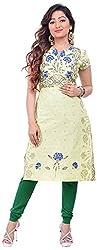 NAVRACHNA Women's Cotton Kurta (NV30_84-YELLOW_36, Yellow, 36)