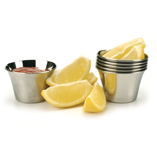 RSVP Endurance Stainless Steel Sauce Cup, Set of 6 (Tartar Sauce Cups compare prices)