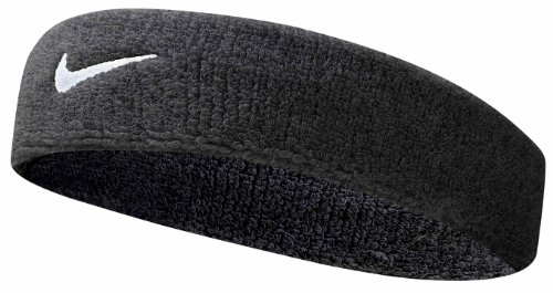 Nike Swoosh Headband (Black/White, Osfm)