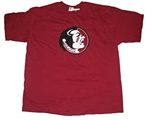 Florida State Seminoles NCAA Mens Round Logo Short Sleeve Tee Shirt - XXL