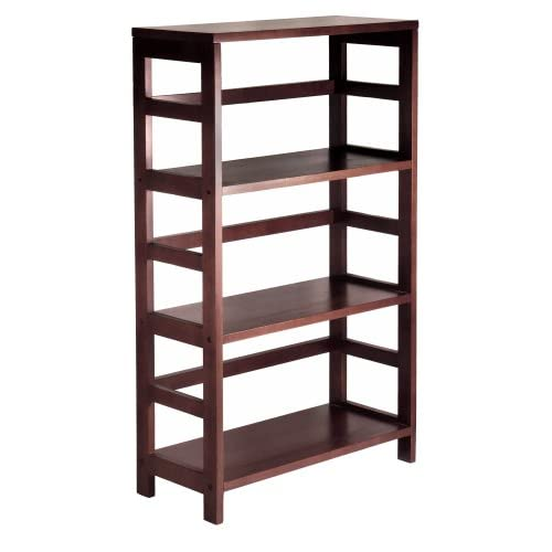 Wood Storage Shelves : Amazon.com - Winsome Wood 3-Shelf Wide Shelving Unit, Espresso ...