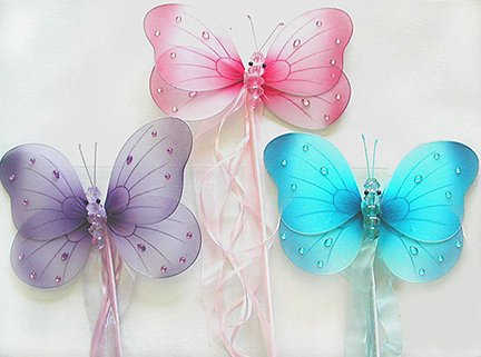 Butterfly Fairy Princess Wand Select Color: purple