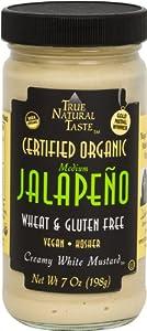 Medium Jalapeno Organic Creamy White Mustard - 7 Oz Jar by True Natural Taste
