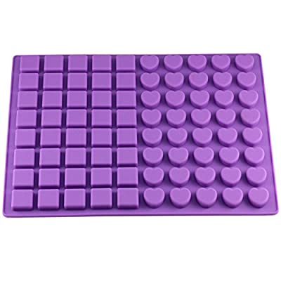Mujiang 80-Cavity Silicone Molds for Making Homemade Chocolate Candy Gummy Jelly