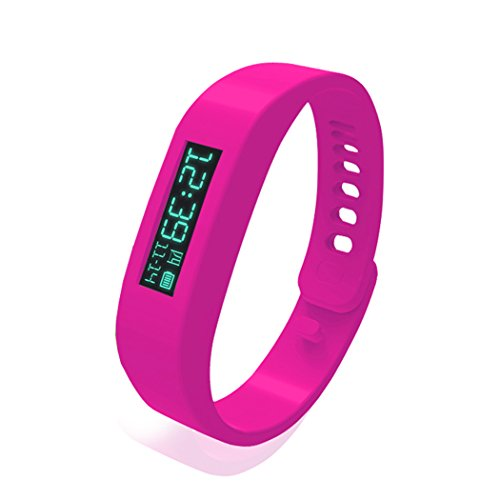 Coocheer Smart Healthy Watch Bluetooth Sport Wristband Bracelet For Samsung Red front-52524