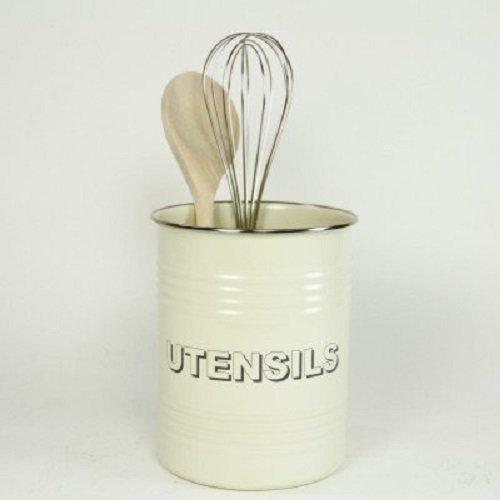 British Bake Off Cream Enamelled Utensil Pot 22222LP by Pretty Maison