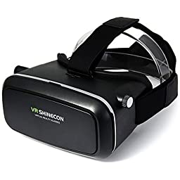 EAGWELL 3D VR Glasses Virtual Reality Video Glasses Movie Game Glasses Head-Mounted for 3.5\