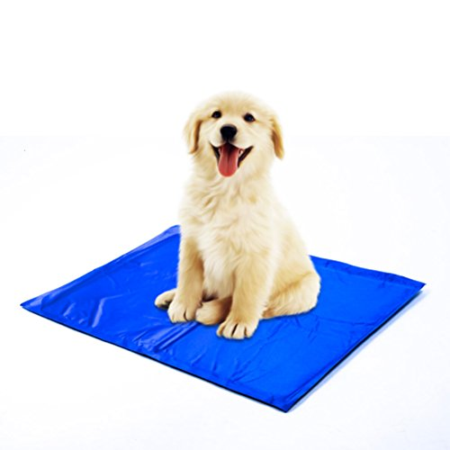 Pet Cooling Pad, Comfort Self Cooling Pet Mat with Non-Toxic Gel, Pressure Activated Cooling Dog Ice Mat Bed Pillow Chilly Mat, Therapy Helps Cool Overheated Pets Dogs