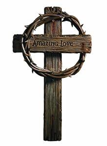 RUSS Amazing Love Wall Cross, 8 by 13-1/2-Inch