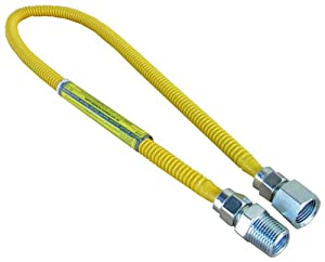 Lasco 10-1207 30-Inch Long Flexible Gas Dryer Connector Line with 3/8-Inch Diameter with 1/2-Inch Fittings at Sears.com