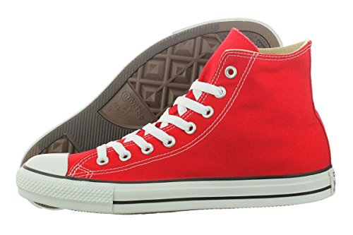 Converse Unisex Chuck Taylor All Star Core Hi Top Sneaker, Red, Men's 12 Women's 14