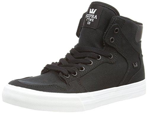 SupraVAIDER D - Sneaker alta Unisex - Adulto, Nero (BLACK - WHITE BLK), 42