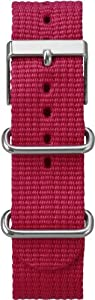 Timex T7B897 Weekender 20mm Red Nylon Slip-Thru Watch Strap