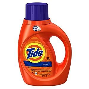Tide Original Scent HE Turbo Clean Liquid Laundry Detergent, 40 oz