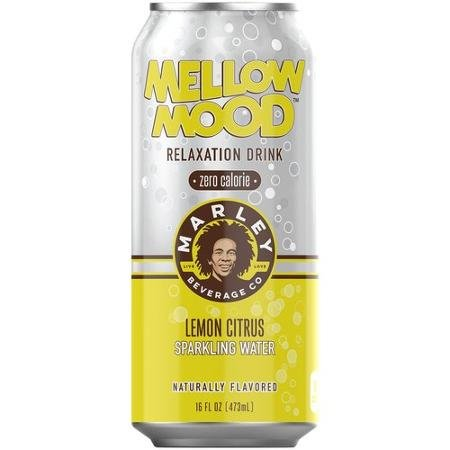 8 Pack - Marley Mellow Mood Relaxation Drink - Zero Calorie - Lemon Citrus Sparkling Water - 16oz. (Energy Drinks Red Line compare prices)