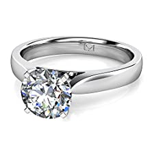 buy Palladium This Popular Style Knife-Edge Solitaire Setting Is A Sure Fit To Any Center Stone