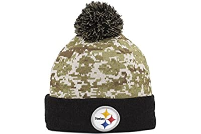 Men's New Era NFL 2015 Pittsburgh Steelers Salute to Service Knit Hat