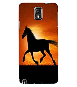 ColourCraft Magnificent Horse Design Back Case Cover for SAMSUNG GALAXY NOTE 3